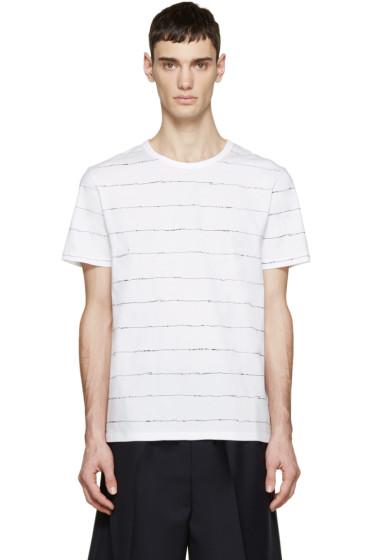 T by Alexander Wang - White Scribble T-Shirt