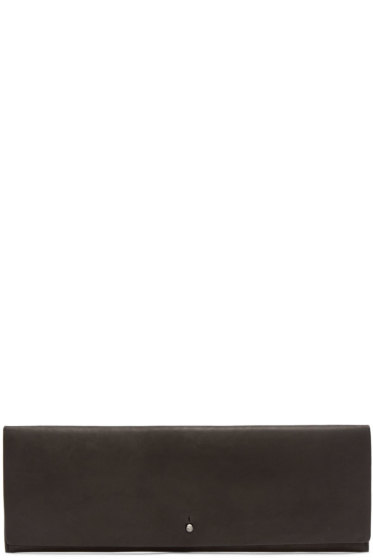 Rick Owens - Black Leather Flat Clutch