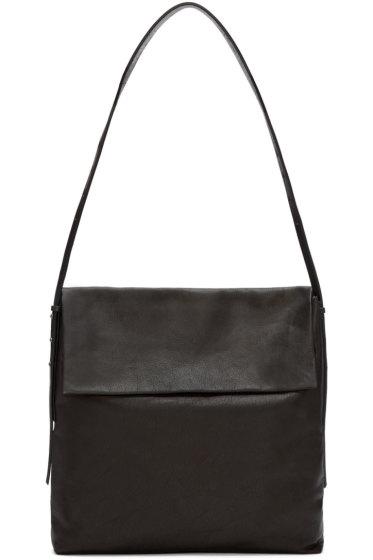 Rick Owens - Black Leather Small Hobo Bag