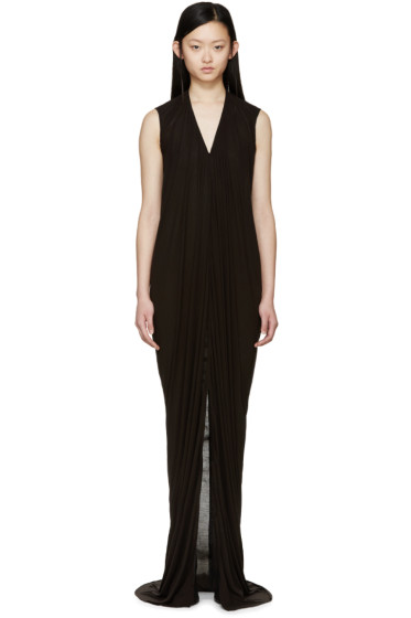 Rick Owens - Black Long Jersey Dress