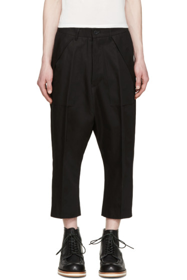 Rick Owens - Black Twill Cargo Trousers