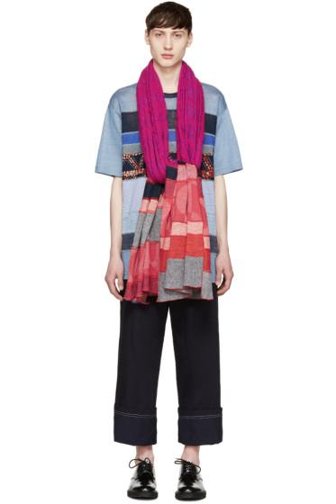 Junya Watanabe - Multicolor Knit Patchwork Scarf