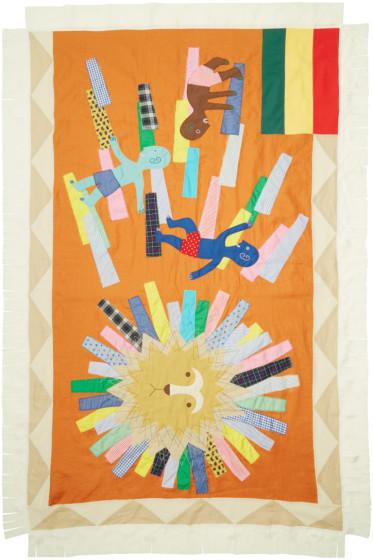 Junya Watanabe - Multicolor Graphic Patchwork Scarf