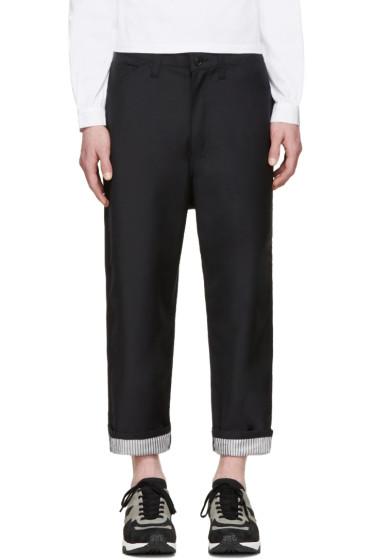 Junya Watanabe - Navy Tropical Wool Trousers