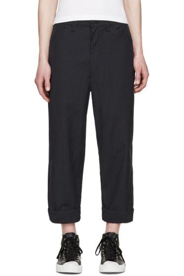 Junya Watanabe - Navy Pinstripe Trousers