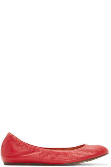 Lanvin - Red Leather Ballerina Flats