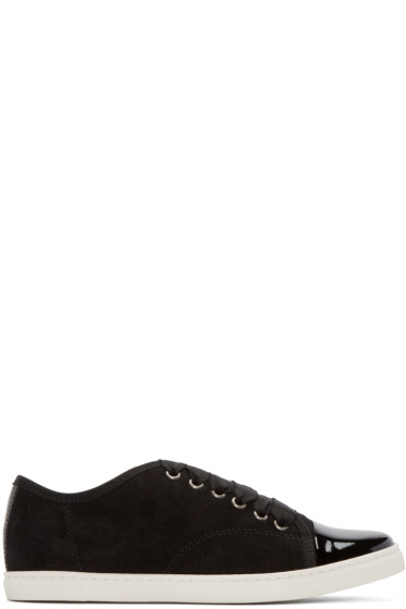 Lanvin - Black Suede & Patent Leather Sneakers
