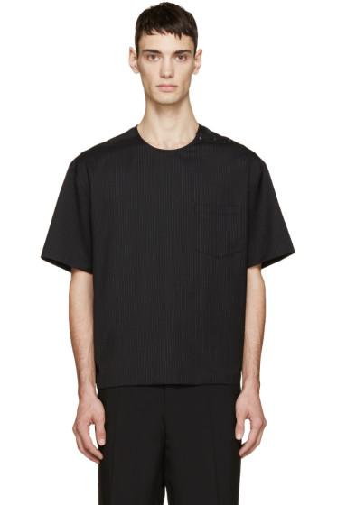 Lanvin - Black Pinstripe T-Shirt