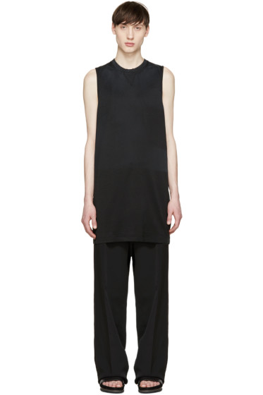 Lanvin - Black Faded Sleeveless T-Shirt
