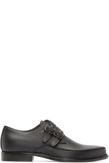Lanvin - Black Leather Monkstrap Loafers