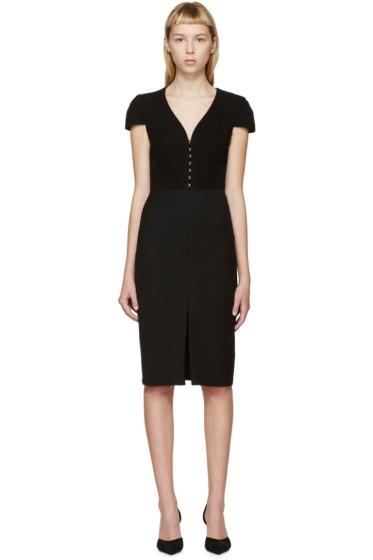 Alexander McQueen - Black Cap Sleeve Dress