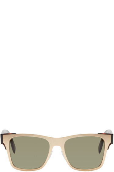 Alexander McQueen - Gold Metal Square Sunglasses