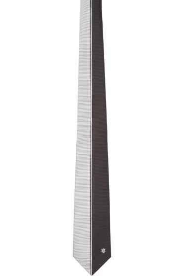 Alexander McQueen - Black & White Silk Block Color Tie