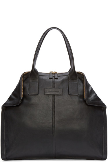 Alexander McQueen - Black Leather Small De Manta Tote