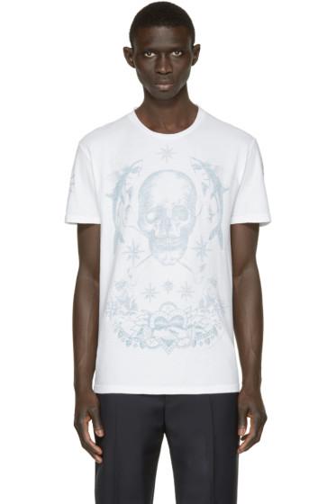 Alexander McQueen - White Skull & Tattoo T-Shirt
