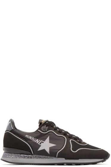 Golden Goose - Black Glitter Running Sneakers