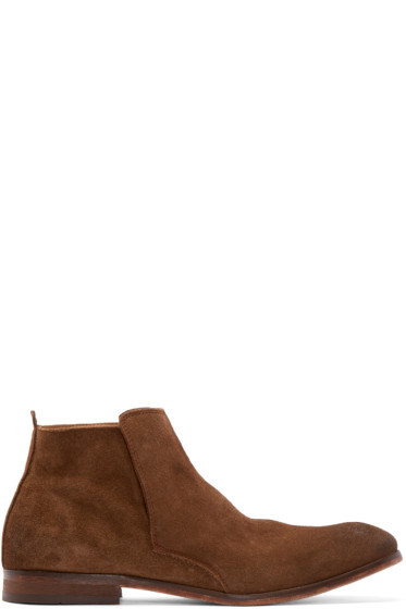 H by Hudson - Brown Suede Lennox Chelsea Boots