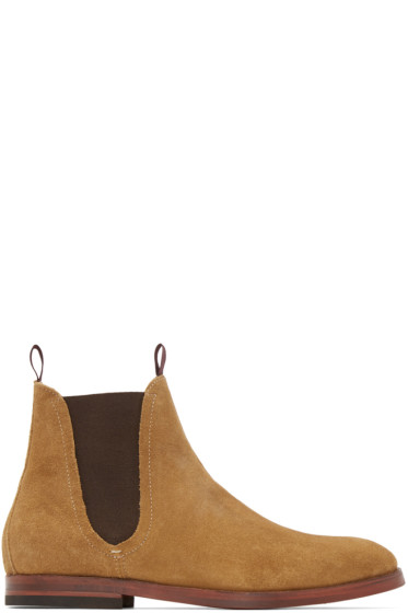H by Hudson - Beige Suede Tamper Boots