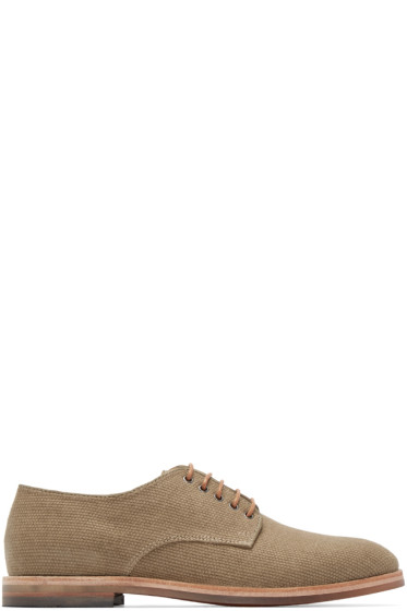 H by Hudson - Beige Hadstone Canvas Oxfords