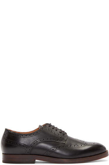 H by Hudson - Black Leather Talbot Brogues