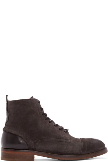 H by Hudson - Grey Suede Palmer Boots