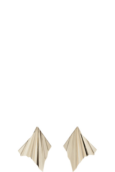 Givenchy - Gold Plisse Earrings