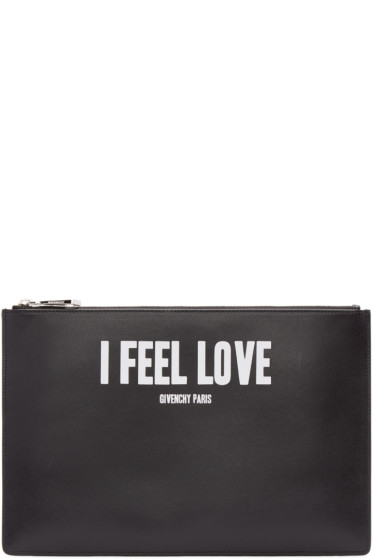 Givenchy - Black Medium I Feel Love Iconic Pouch