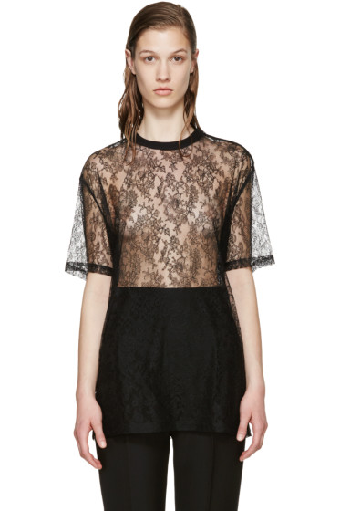 Givenchy - Black Floral Lace Blouse