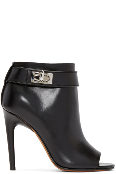 Givenchy - Black Shark-Lock Ankle Boots