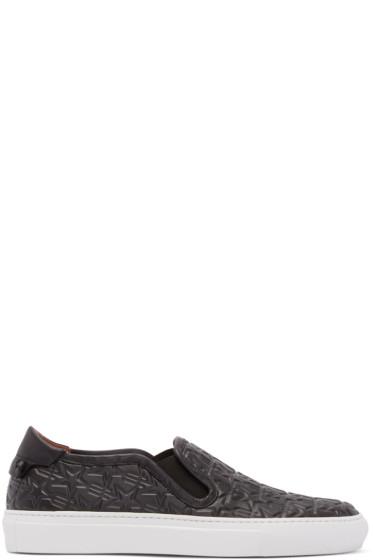 Givenchy - Black Trident Street Skate Slip-On Sneakers