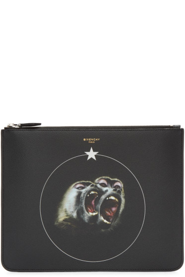 Givenchy - Black Canvas Monkey Brothers Pouch