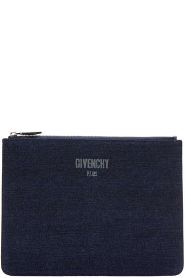 Givenchy - Indigo Denim Pouch