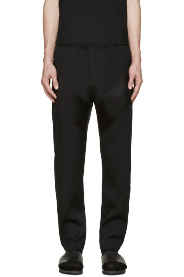 Givenchy - Black Satin Panel Trousers