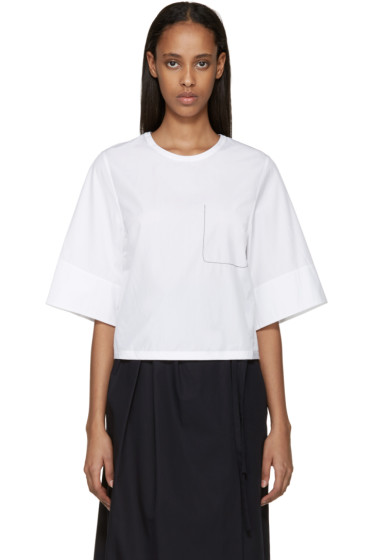 3.1 Phillip Lim - White Ghost Pocket Top