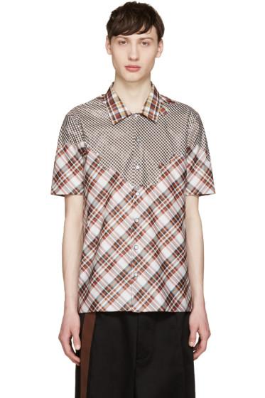 Raf Simons - Red & White Plaid Shirt