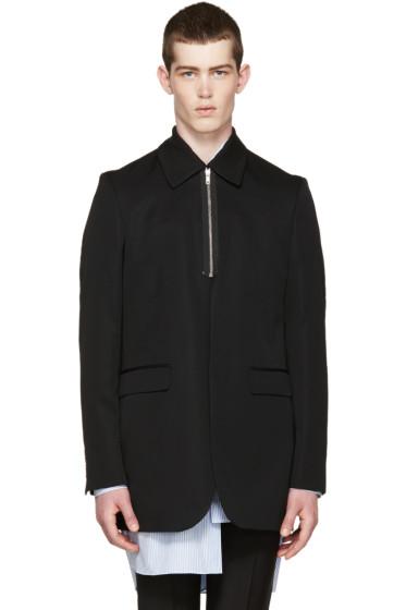 Raf Simons - Black Zip Collar Blazer