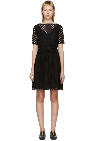 Carven - Black Ajoure Dress