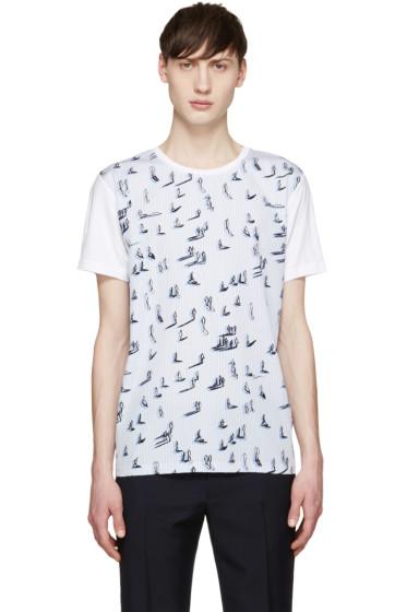 Carven - Blue Walking Man T-Shirt