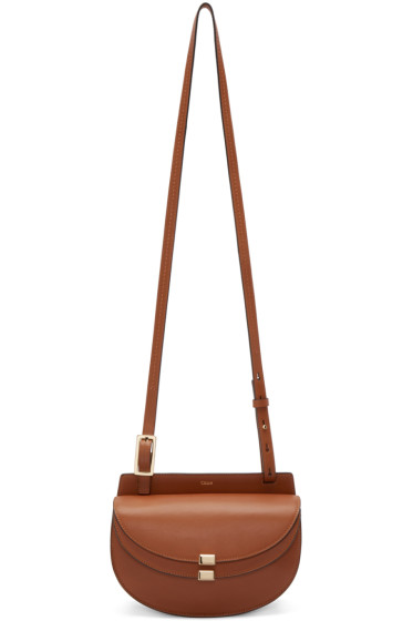 Chloé - Tan Mini Georgia Saddle Bag