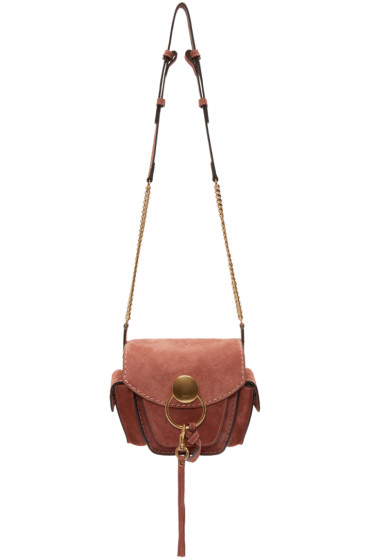 Chloé - Pink Suede Small Jodie Camera Bag