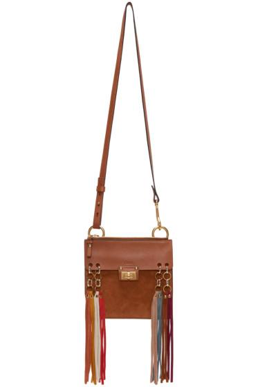 Chloé - Tan Fringed Mini Bracelet Bag