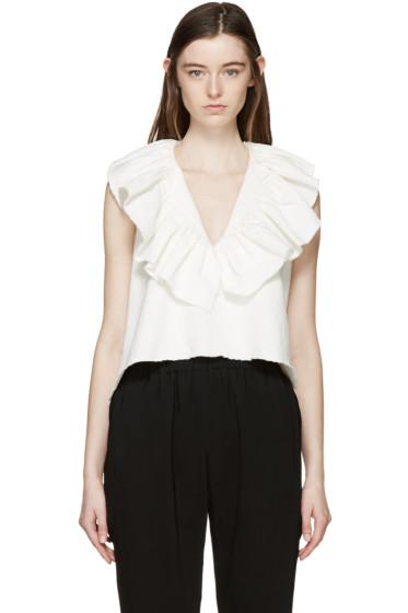 Chloé - Ivory Ruffled Collar Blouse