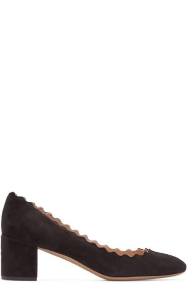Chloé - Black Suede Lauren Heels