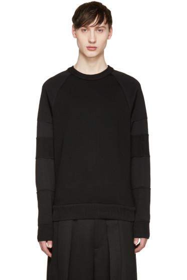 Juun.J - Black Mixed Knit Pullover