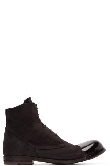 Officine Creative - Black Coated Toe Boots
