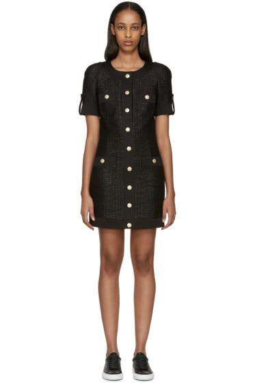 Pierre Balmain - Black Tweed Button Dress