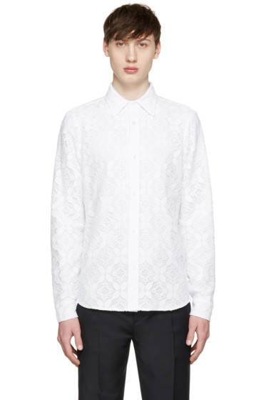 Burberry Prorsum - White Lace Shirt
