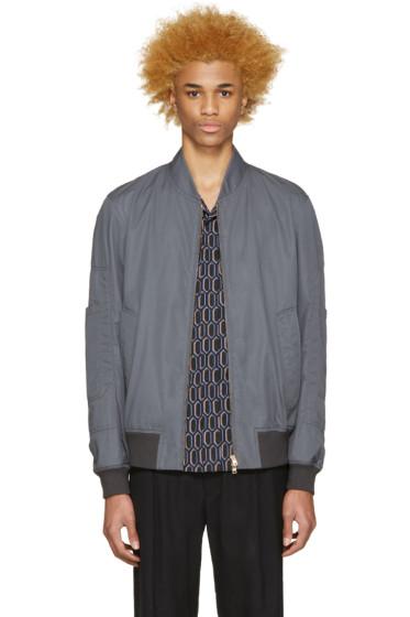 Marni - Grey Cotton Bomber Jacket