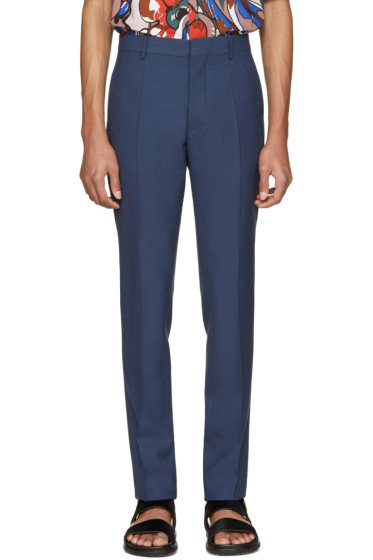 Marni - Blue Wool Trousers