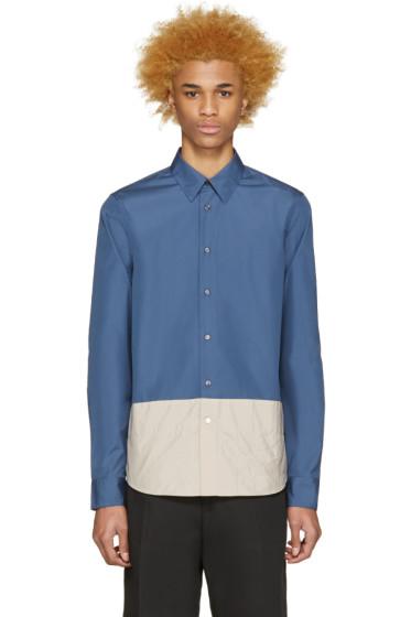 Marni - Blue Contrast Panel Shirt